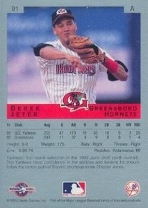 Derek Jeter Minor League Cards Guide  23