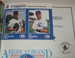 Andy Pettitte Minor League Baseball Card Guide 14