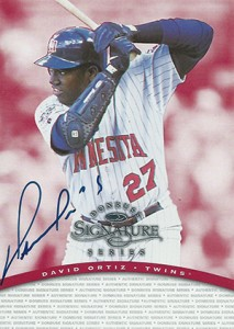 1997 Donruss Signature Series Autograph David Ortiz