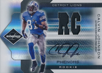 Top 10 Calvin Johnson Rookie Cards of All-Time 3