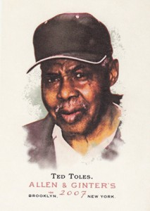 Ted Toles Jr. Cards and Memorabilia Guide 1
