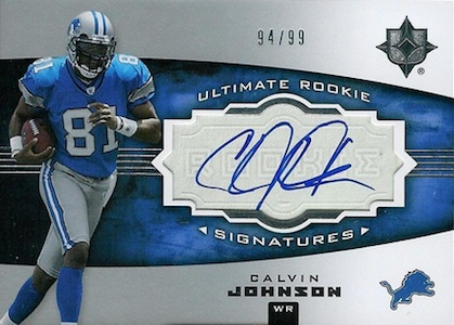 Top 10 Calvin Johnson Rookie Cards of All-Time 8