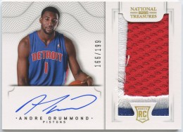 2012-13 National Treasures Andre Drummond