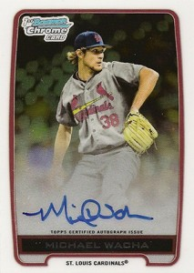 2012 Bowman Chrome Draft Michael Wacha Autograph