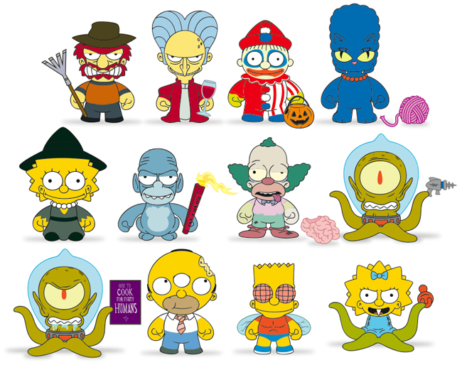 2013 Kidrobot Simpsons Treehouse of Horror Vinyl Figures 1