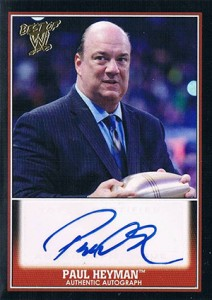 2013 Topps Best of WWE Autographs Paul Heyman
