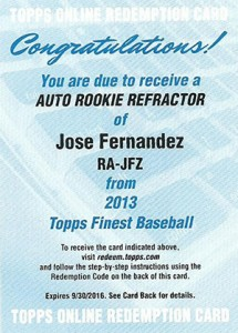 2013 Topps Finest Baseball Rookie Autographs Guide 18