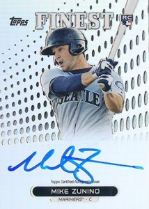 2013 Topps Finest Rookie Autographs Mike Zunino