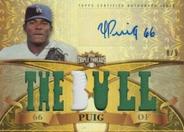 Yasiel Puig Signs Exclusive Autograph Deal with Topps 1