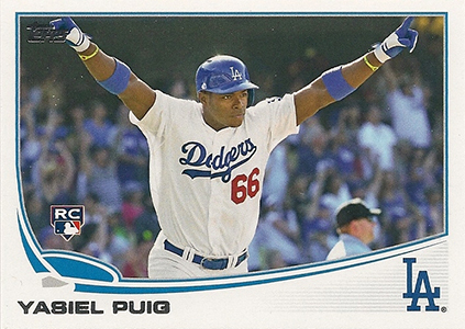 2013 Topps Update Series Variations US250 Yasiel Puig