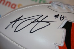 AJ Green Signed Football Closeup