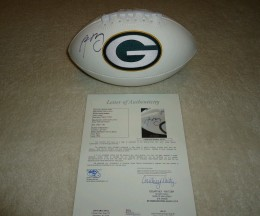 Aaron Rodgers Signed Football LOA