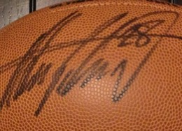 Adrian Peterson Signed Football Closeup
