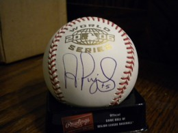 Albert Pujols Signed WS Ball