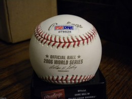 Albert Pujols Signed WS Ball Sticker