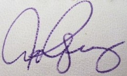 Alex Rodriguez Signature Example 2