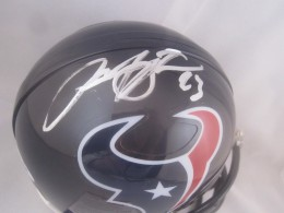 Arian Foster Signed Helmet Close
