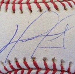 David Ortiz Signed Ball closeup