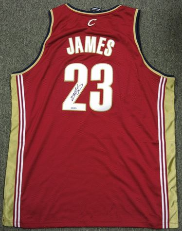 a0235c3c9 Active Listings for Lebron James Signed Jerseys