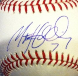 Matt Holiday Signed Ball Closeup