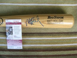 Matt Holliday Signed Bat
