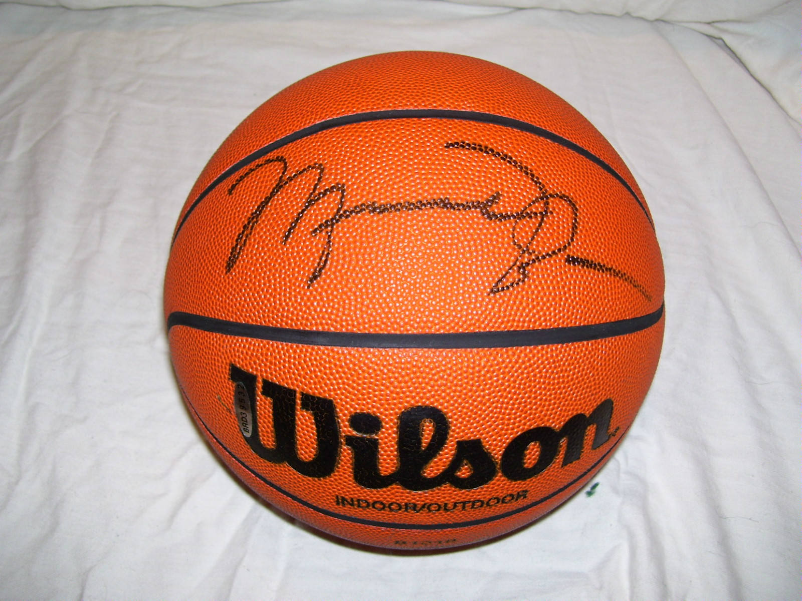 109452e9ff892d Signed Basketball Pricing  Active Listings for Michael Jordan Signed  Basketballs · Michael Jordan Card and Memorabilia ...