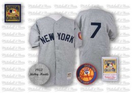 Mickey Mantle 1952 Road Jersey
