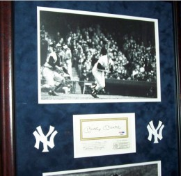 Mickey Mantle Signed Framed Photo