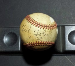 Ted Toles Signed Baseball