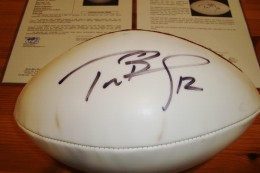 Tom Brady Signed Football Close-up