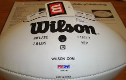 Tom Brady Signed Football w- sticker