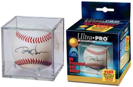 5 Ultra Pro Dark Wood Baseball Ball Storage Holders Display Case Matching In Colour Autographs-original