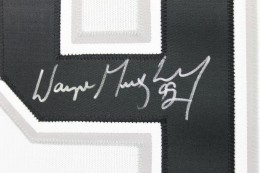Wayne Gretzky Signed Jersey Close-up