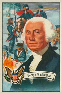 1956 Topps US Presidents 3 George Washington