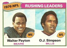 1977 Topps Rushing Leaders Payton-Simpson