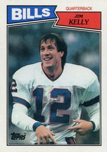 1987 Topps Football Jim Kelly RC