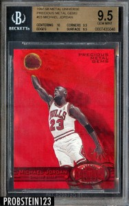 Bidding on Michael Jordan 1997-98 Metal Universe Precious Metal Gems Over $17,000 1
