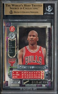 Bidding on Michael Jordan 1997-98 Metal Universe Precious Metal Gems Over $17,000 2