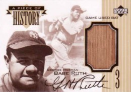 1999 Upper Deck A Piece of History Babe Ruth 2