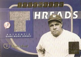 2001 Donruss Elite Threads Babe Ruth