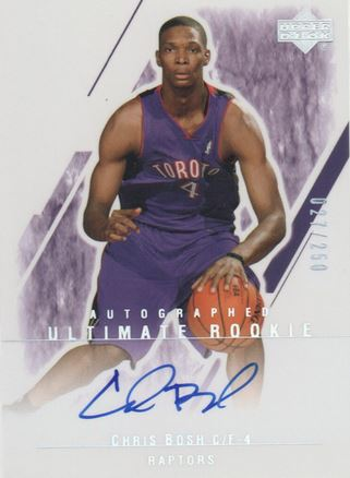 Chris Bosh Rookie Card Checklist and Autograph Memorabilia Guide 2