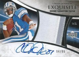 2007 UD Exquisite Collection Calvin Johnson
