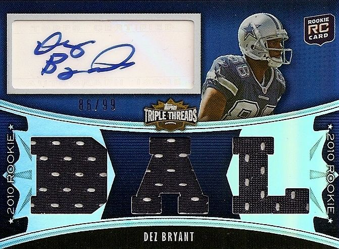 timeless design fdbc4 b247f Dez Bryant Cards, Rookie Card and Autographed Memorabilia Guide