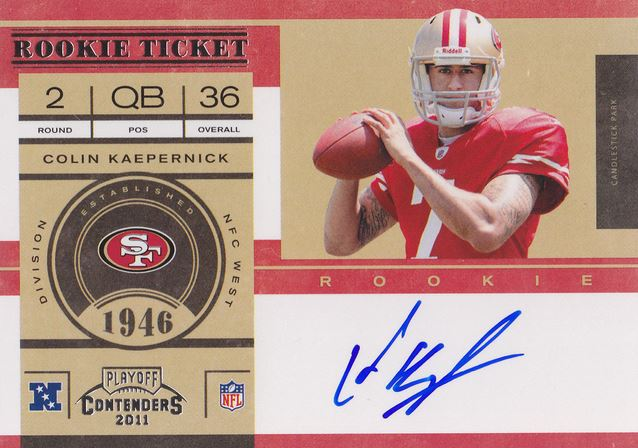 Colin Kaepernick Rookie Cards and Autograph Memorabilia Guide 3