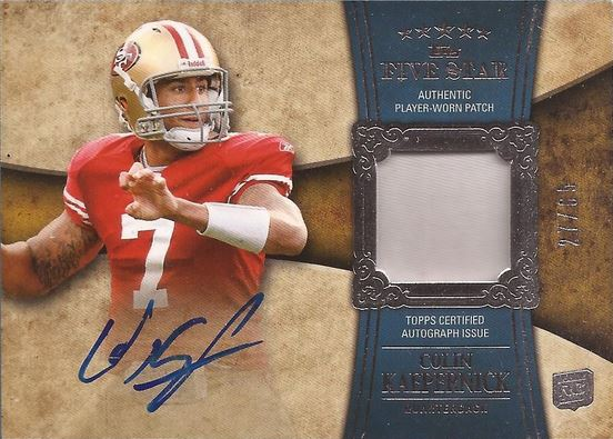 Colin Kaepernick Rookie Cards and Autograph Memorabilia Guide 1