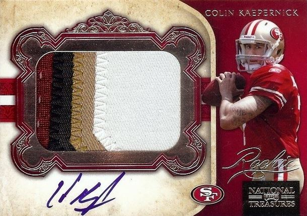 Colin Kaepernick Rookie Cards and Autograph Memorabilia Guide 2