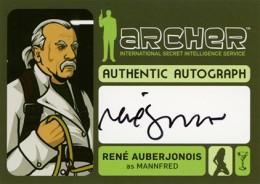 2014 Cryptozoic Archer Seasons 1-4 Autographs Guide 12