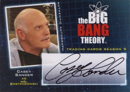 2013 Cryptozoic Big Bang Theory Season 5 Autographs Guide 15