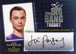 2013 Cryptozoic Big Bang Theory Season 5 Autograhs A2 Jim Parsons as Sheldon Cooper