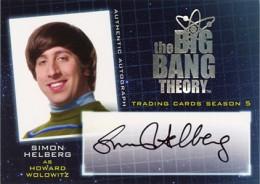 2013 Cryptozoic Big Bang Theory Season 5 Autographs Guide 2